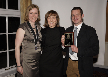 Photo 1 / 1 - GPME accepting the Greenest Business Award 2010